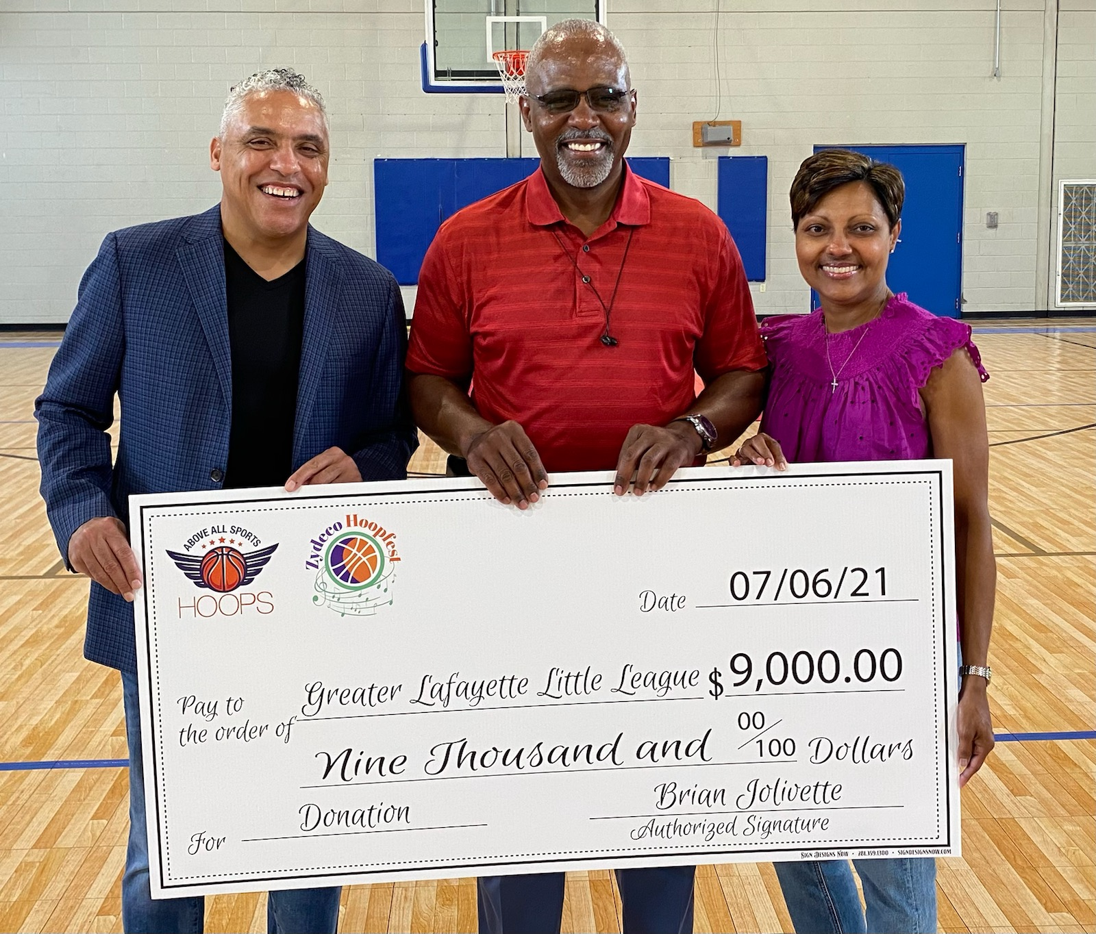 Zydeco Hoopfest Organizers Donate $9,000 to PARC