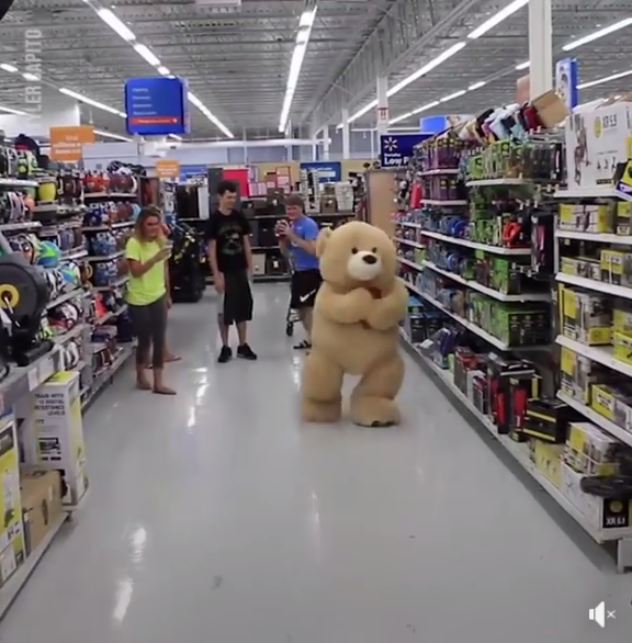 Girl Transforms into giant cuddly teddy bear! (VIDEO) – @Tyler Capito