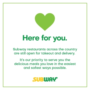 Subway Restaurants Offering Take Out & Delivery Specials
