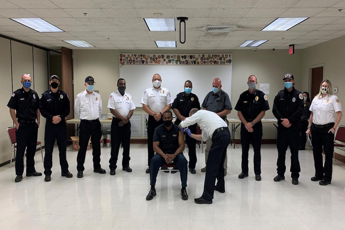 Lafayette Firefighters Receive The Moderna COVID-19 Vaccine