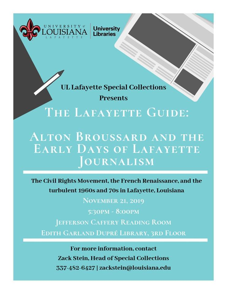 The Lafayette Guide: Alton Broussard and the Early Days of Lafayette Journalism