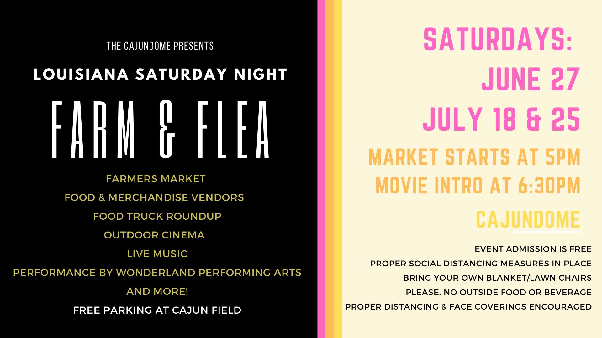 Cajundome Presents 'Louisiana Saturday Night' Summer Events