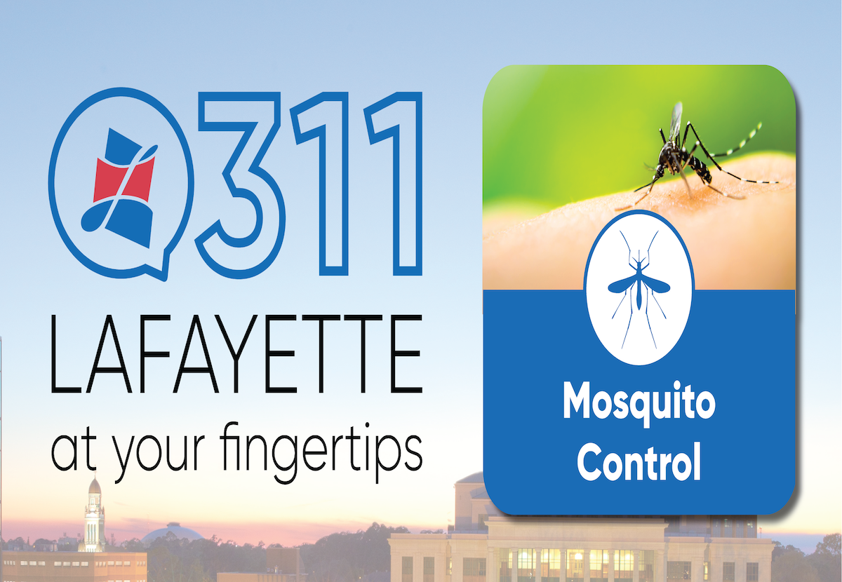 Lafayette Mosquito Control Requests Available Through 311