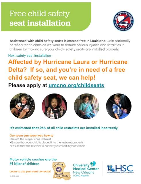 Free Child Safety Seat Installation