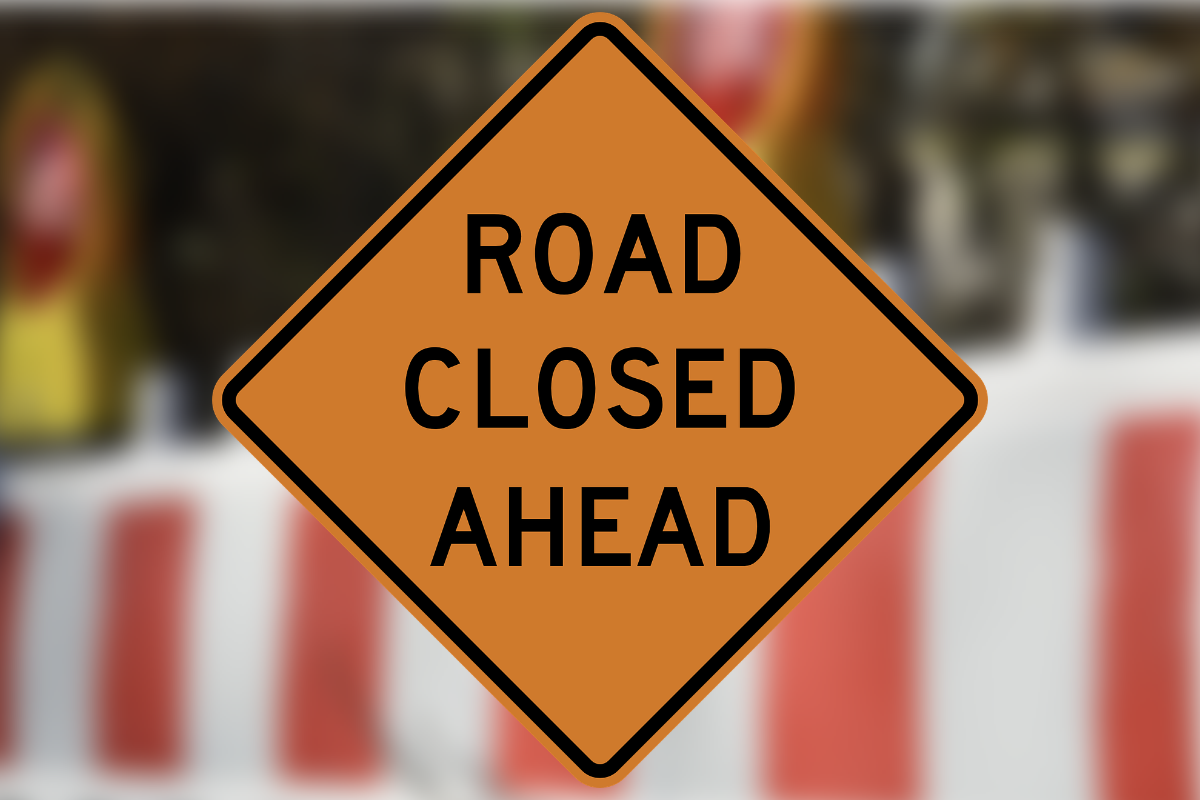Road Closure Due To Dulles Drive Widening Project