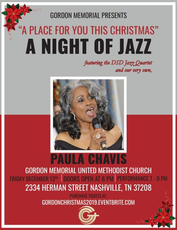 """""""A Place for You This Christmas"""" A Night of Jazz at Gordon Memorial United Methodist Church"""