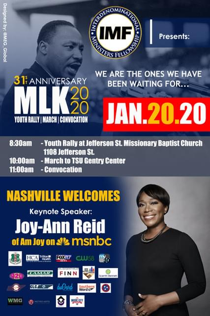 January 20, 2020 8am- 1pm Join IMF for their 31st Anniversary celebration of the life and legacy of Dr. Martin Luther King! Click the image for more information