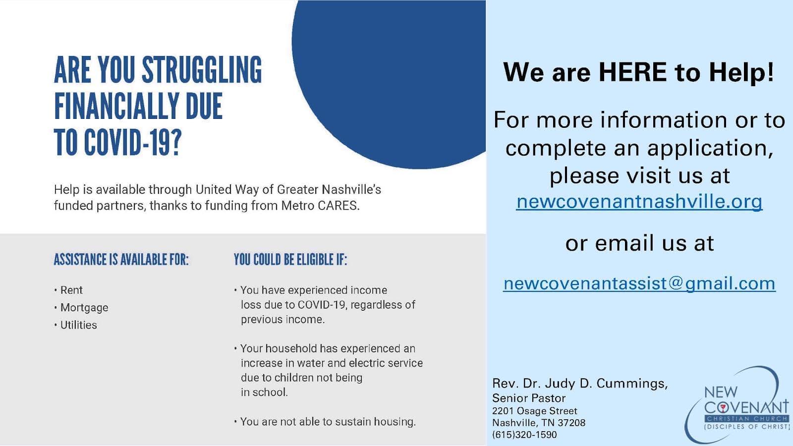 $400,000.00 Metro CARES Act Grant