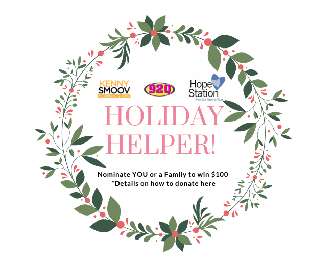 BE A HOLIDAY HELPER…DONATE NOW!