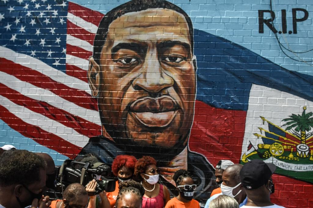 George Floyd's Brother Attends Unveiling Of Memorial Portrait In Brooklyn