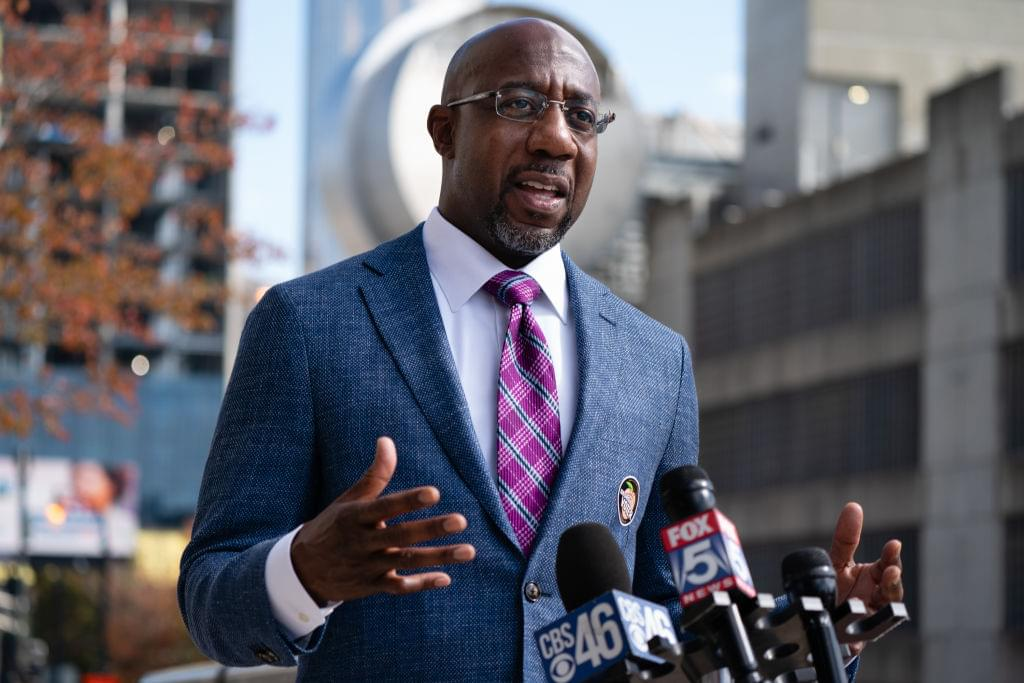 Democratic Senate Candidate Rev. Raphael Warnock Casts Early Vote In Atlanta