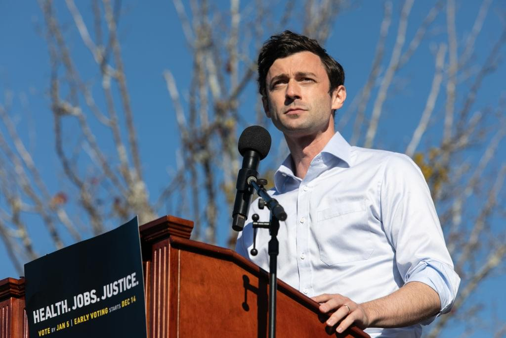 Georgia Senate Candidates Ossoff And Warnock Hold Drive-In Rally In Leadup To Runoff Election