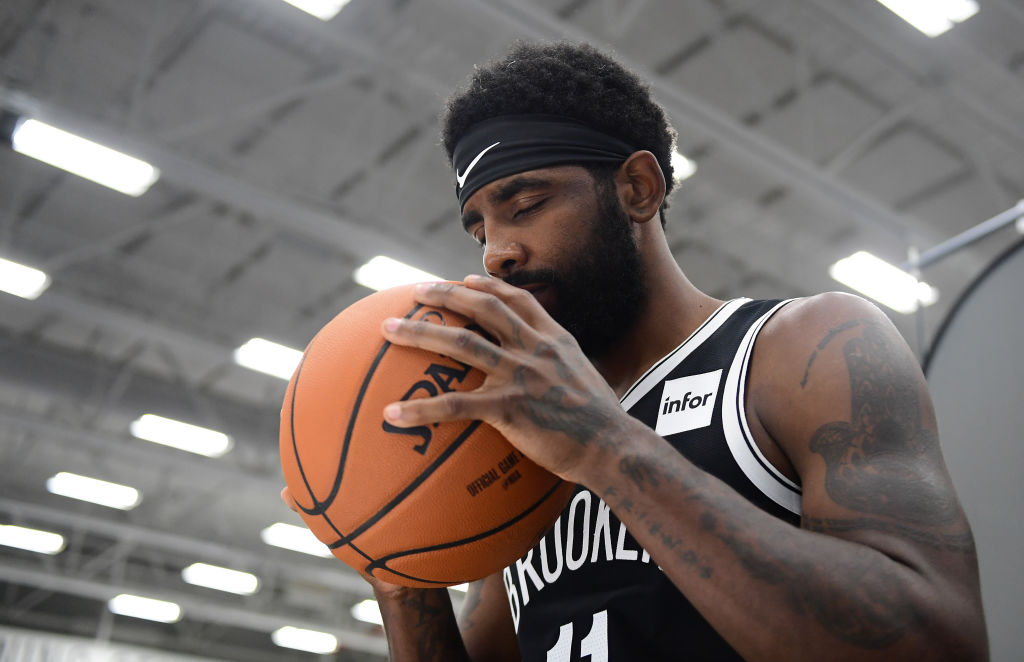 Kyrie Irving Spotted Playing Pick-Up Football In New Jersey