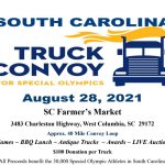 Truck Convoy for SC Special Olympics