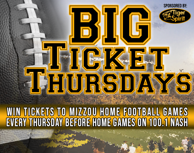 BIG TICKET THURSDAYS on NASH FM 100.1