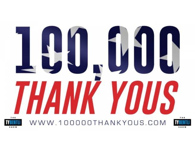 3rd Annual 100,000 Thank You's