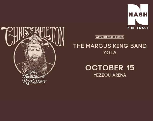 Chris Stapleton at the Mizzou Arena 10/15!