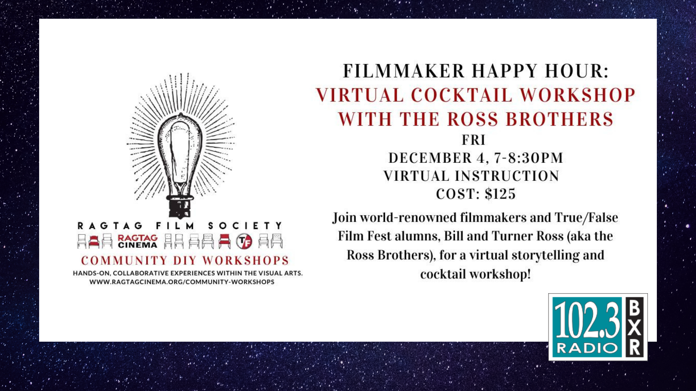 Ragtag Film Society Community DIY – Happy Hour w/the Ross Brothers