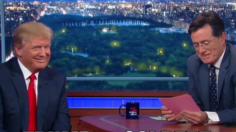 Who said it: Trump or Colbert?