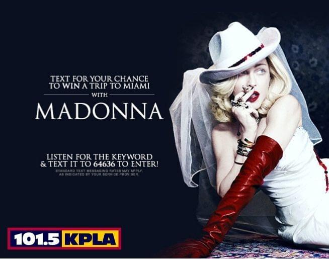 Win a Madonna Flyaway to Miami Beach!