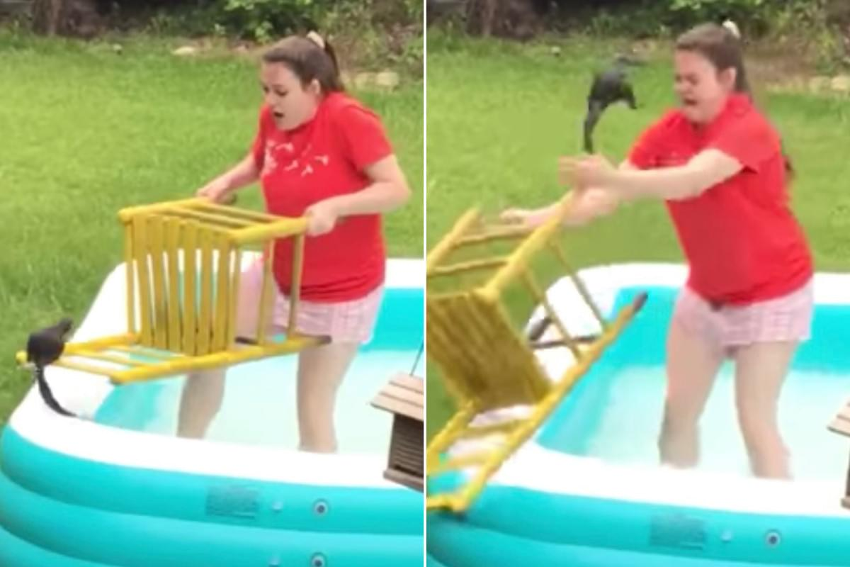 WATCH: She Was Trying To Save A Squirrel And It Totally Backfired! LOL