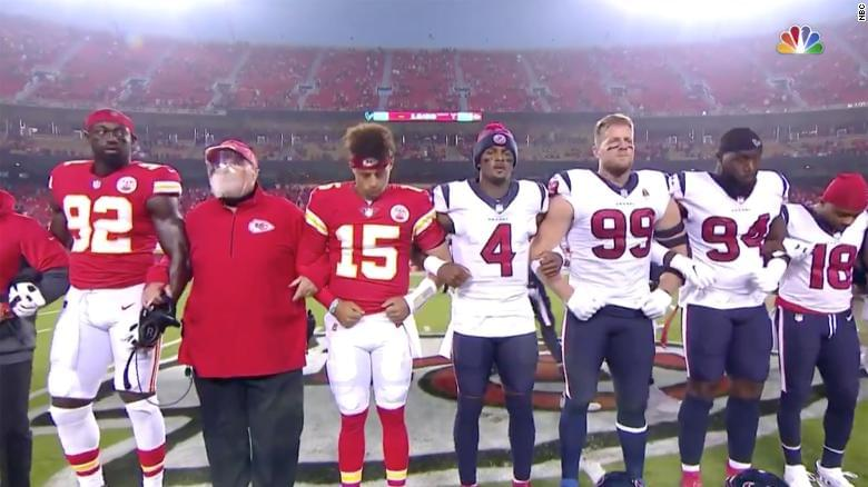 NFL fans boo a moment of silence for racial equality…
