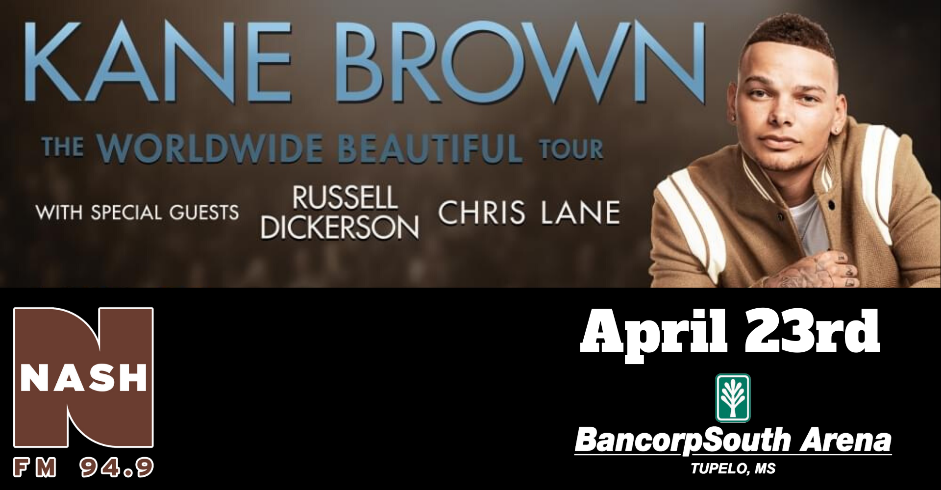 Kane Brown BCS Arena April 23rd