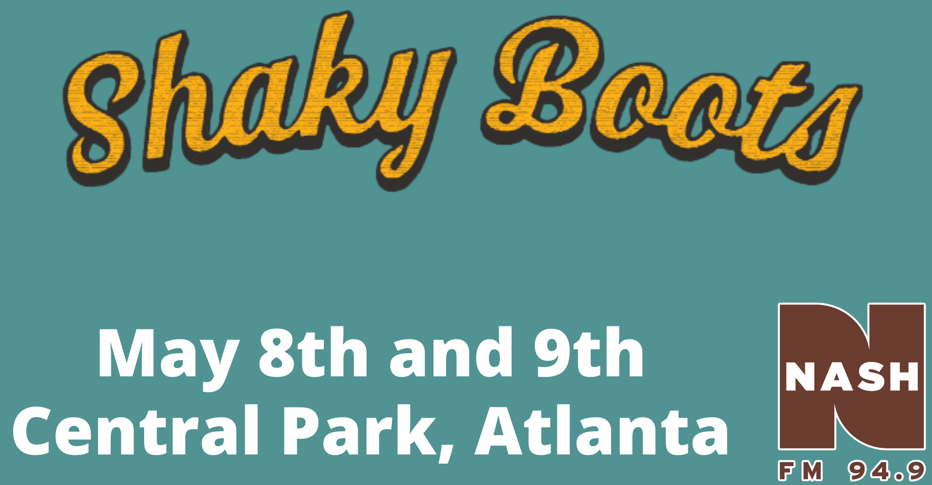 Shaky Boots-May 8-9 at Central Park, Atlanta