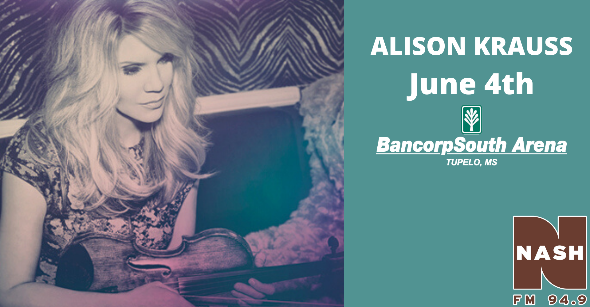 Alison Krauss June 4th BCS Arena