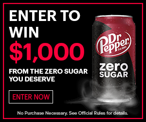 Win $1000 with Dr Pepper Zero