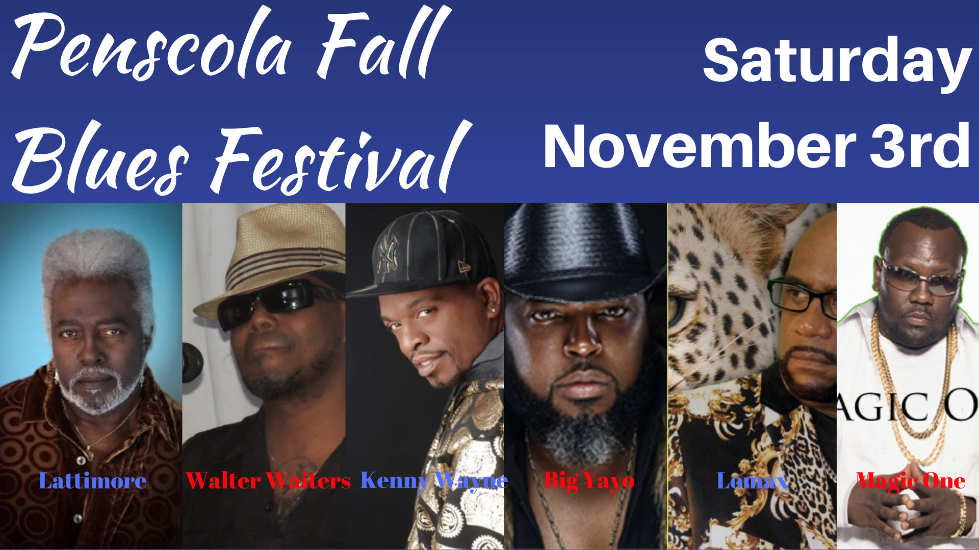 Beach N' Blues- Pensacola Fall Blues Festival on November 3rd WINNER ANNOUNCEMENT!