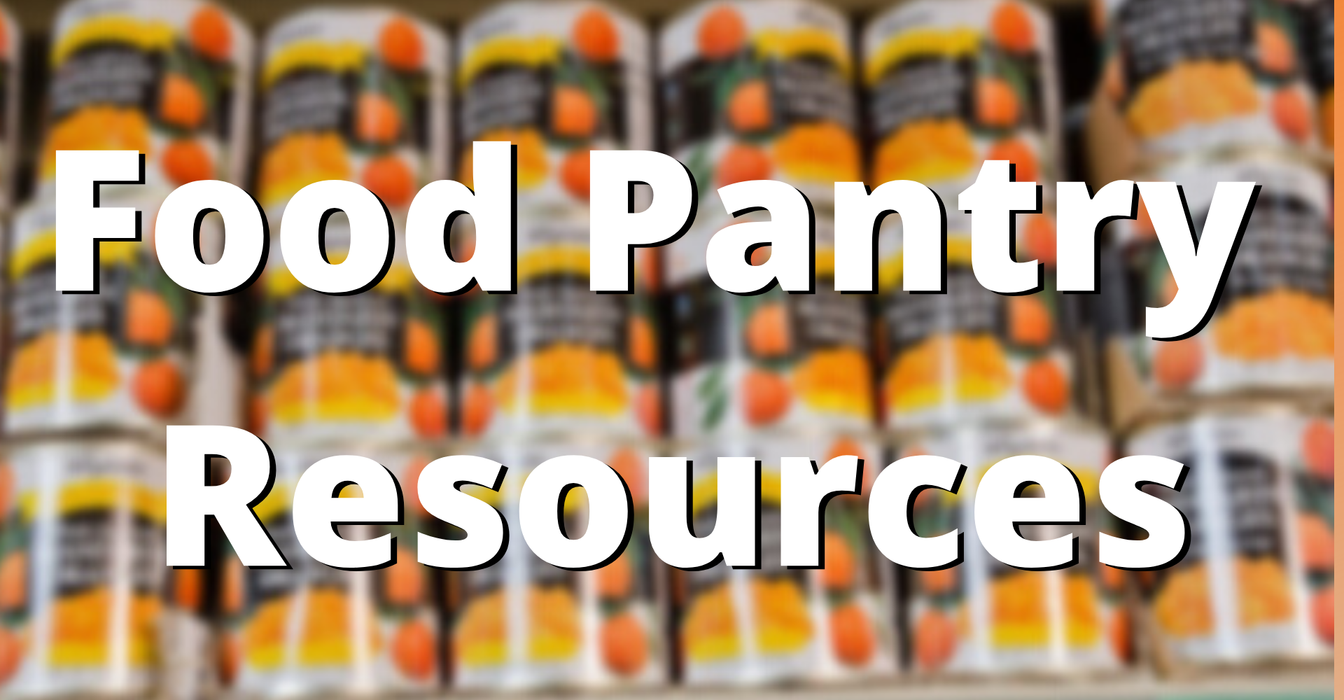 Food Pantry Resources