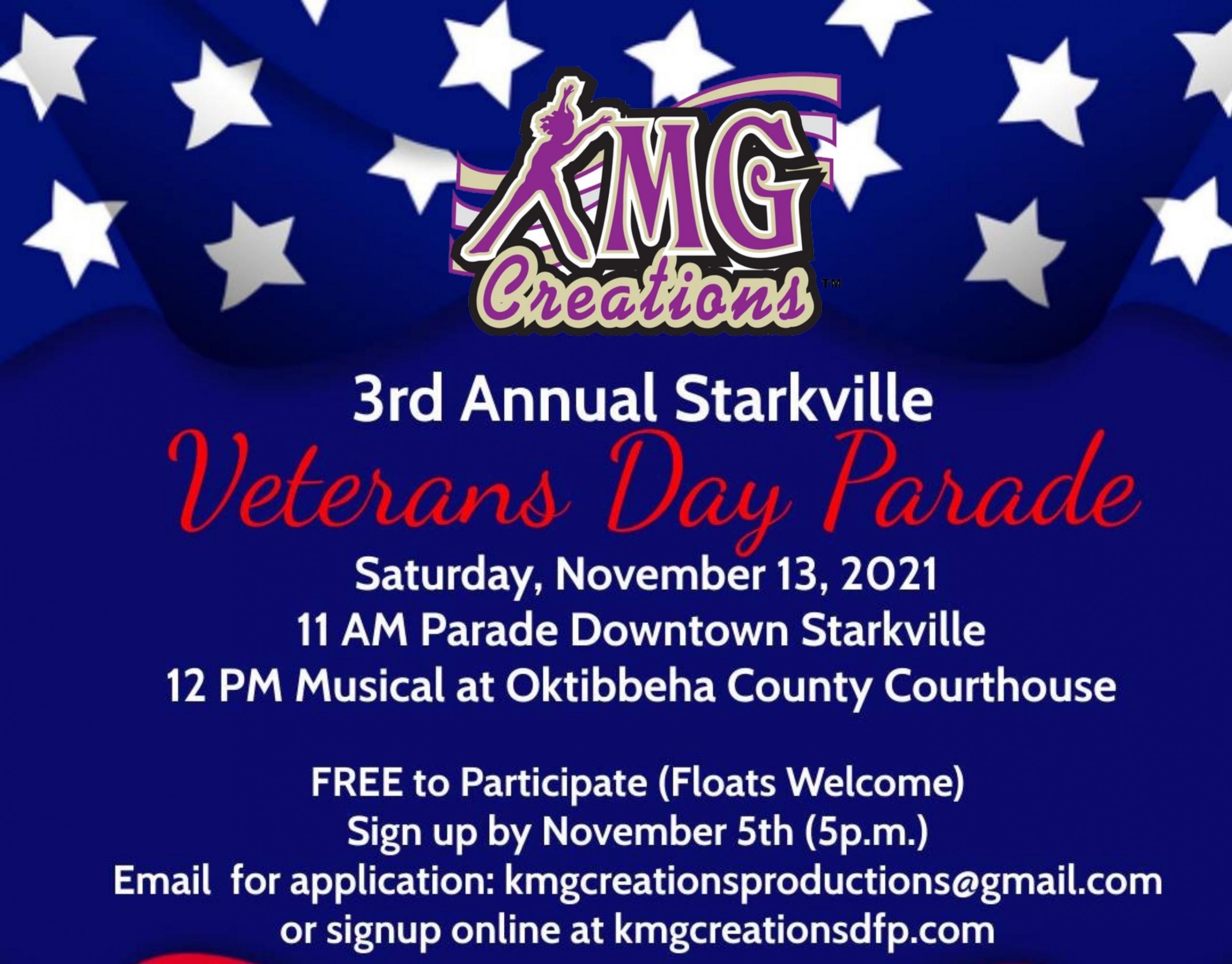 Starkville Veteran's Day Parade