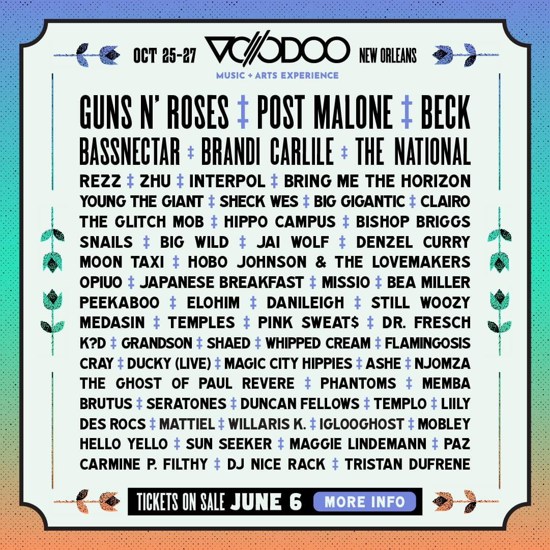 Voodoo October 25-27 New Orleans