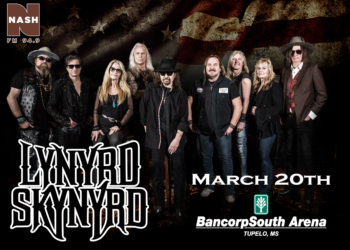 Lynyrd Skynyrd-March 20th at the BancorpSouth Arena
