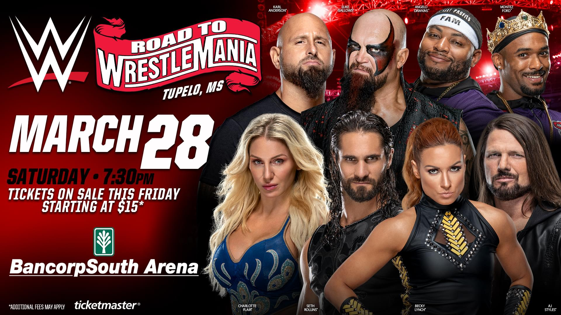 WWE Road to Wrestle Mania BCS Arena March 28th