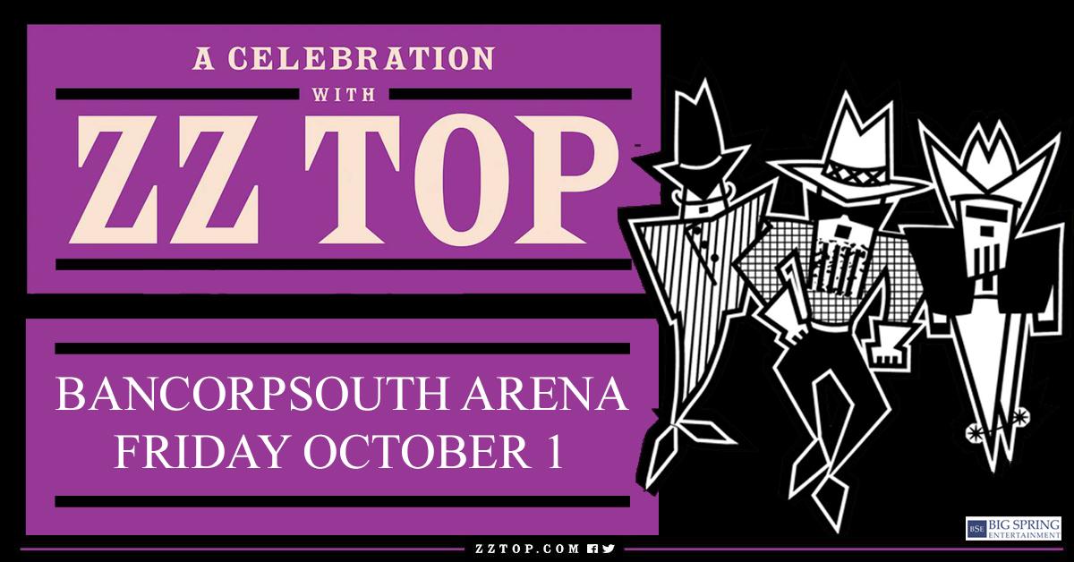 ZZ Top BCS Arena October 1st