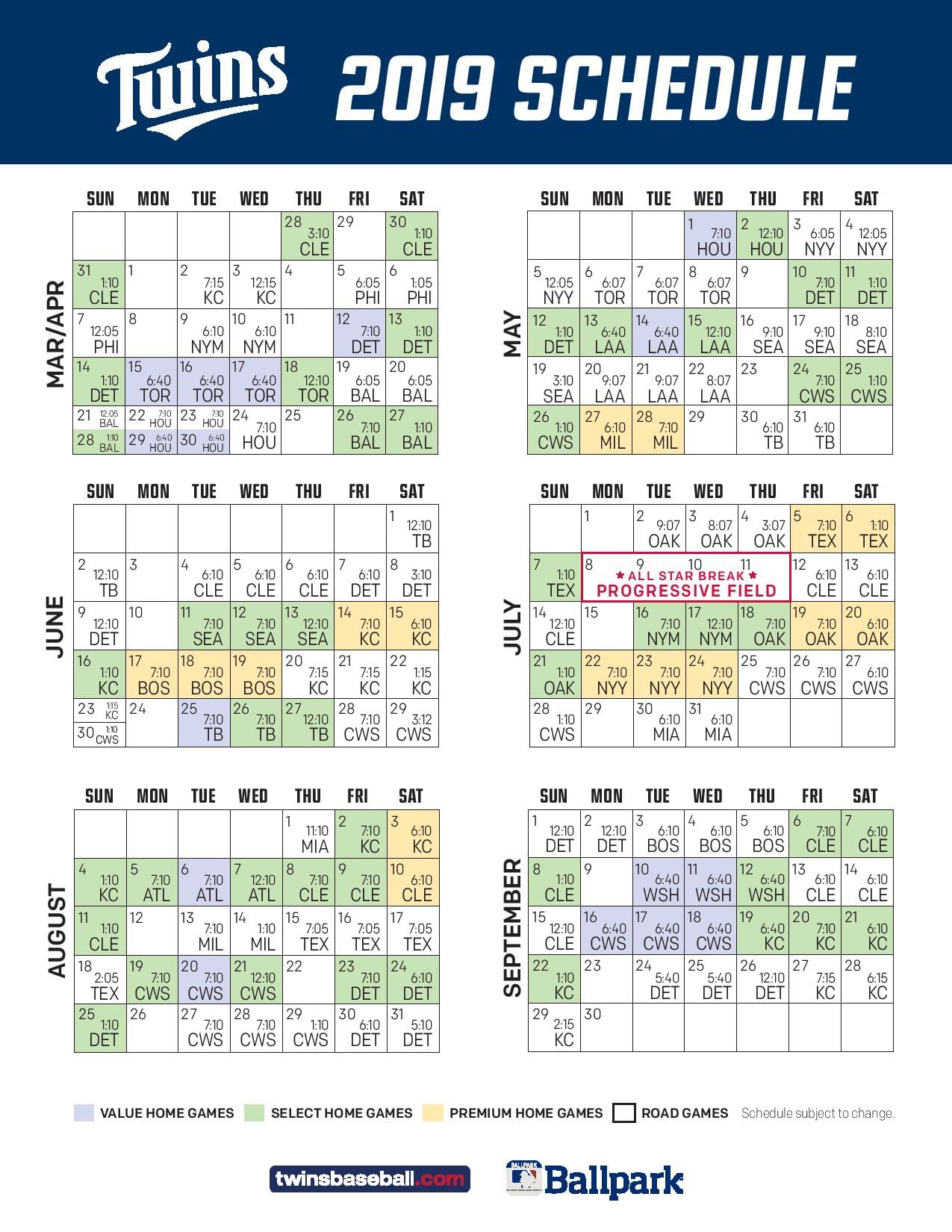 Dynamite image with twins printable schedule