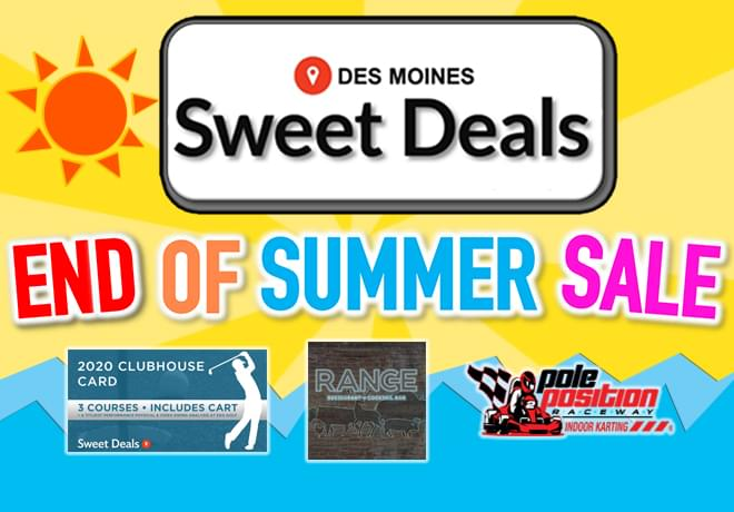 Sweet Deals End Of Summer Sale