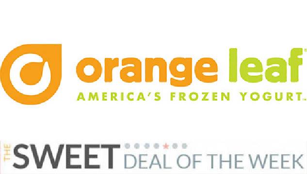 Orange Leaf Sweet Deal of the Week
