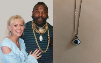 Mr T and Kim and Necklace