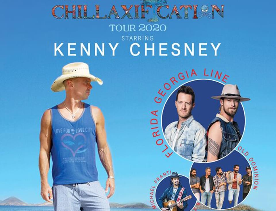 Kenny Chesney Chillaxification Tour Stops in Kansas City