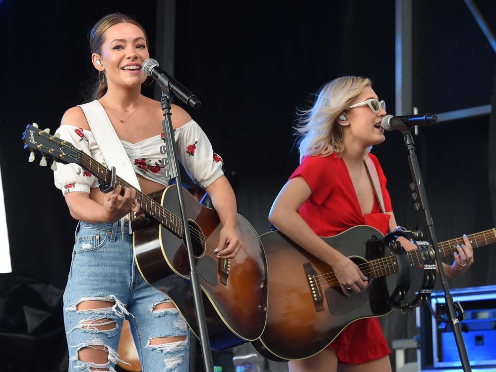 "Maddie & Tae's New Album, ""The Way It Feels,"" Debuts at No. 7 on Billboard Top Country Albums Chart"