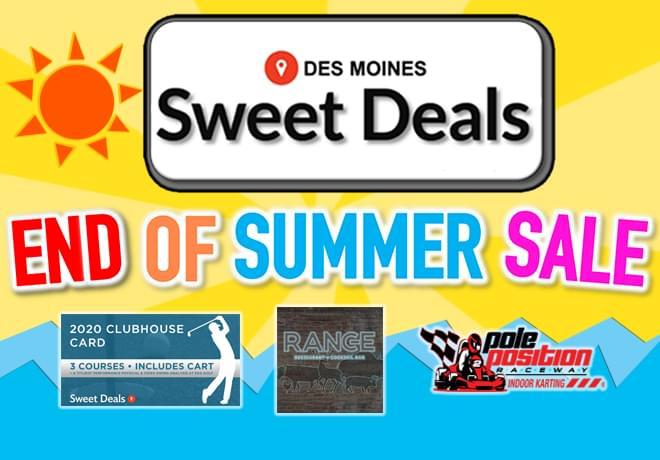 Sweet Deals End Of Summer Sale