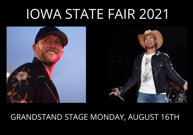 Cole Swindell & Dustin Lynch Live at the Iowa State Fair, Mon Aug 16