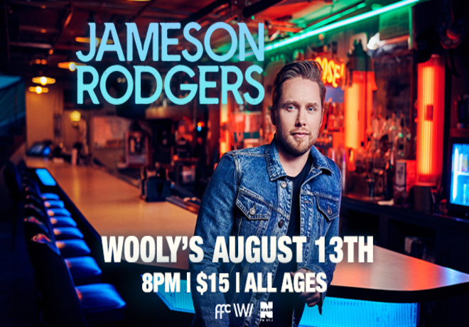 Nash FM 97.3 Presents Jameson Rodgers at Wooly's
