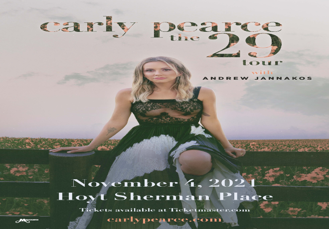 Carly Pearce Live at Hoyt Sherman Place, Nov 4!