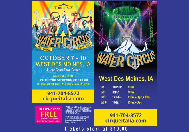Enter to Win Tickets to Cirque Italia Water Circus