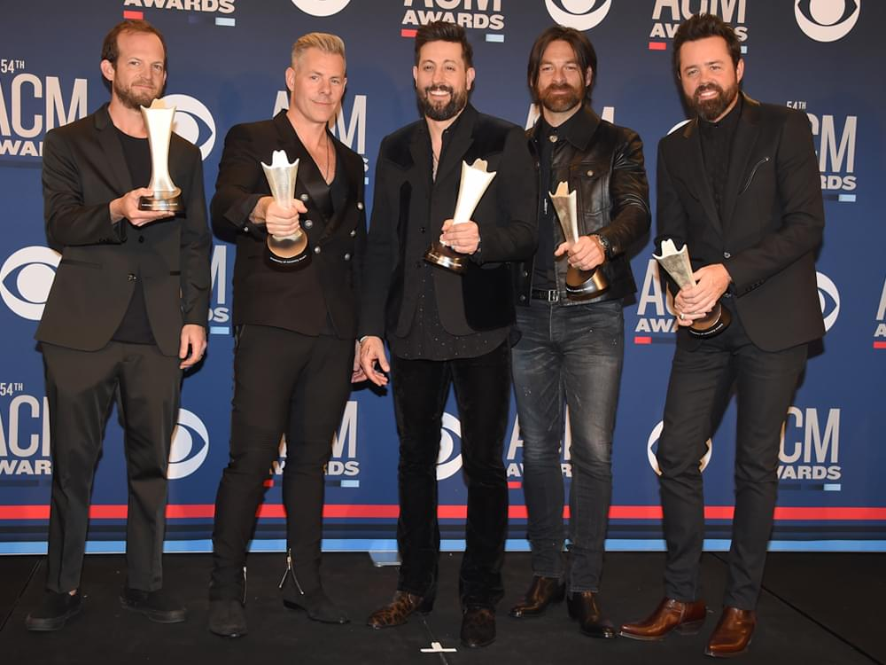 """Old Dominion Celebrates """"Whirlwind Weekend"""" With ACM Award, National TV Performance, Top 5 Hit & Songwriting No. 1"""