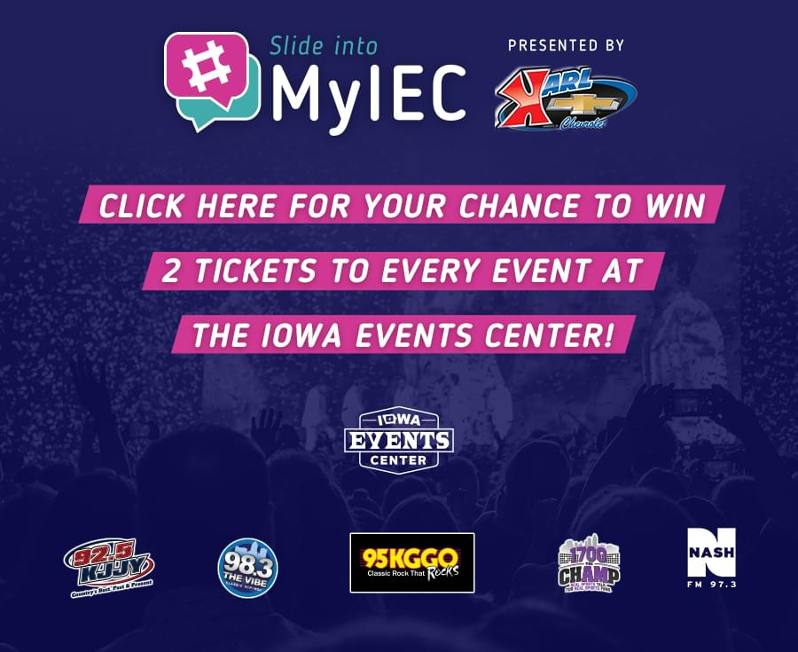 Iowa Events Center Slide Into #MyIEC
